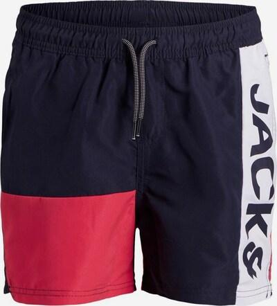 Jack & Jones Junior Zwemshorts 'Bali' in de kleur Donkerblauw / Grenadine / Wit, Productweergave