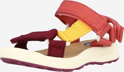 FINKID Sandale 'NAUHA' in gelb / rosegold / burgunder, Produktansicht