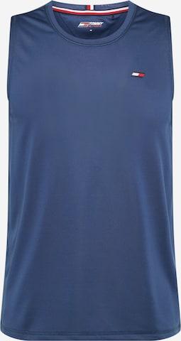 T-Shirt fonctionnel Tommy Sport en bleu