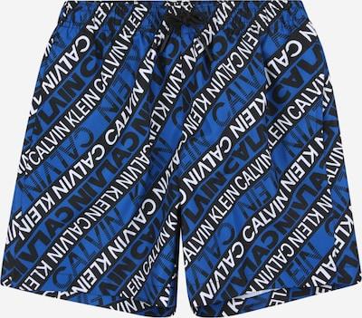 Calvin Klein Swimwear Shorts de bain en bleu / bleu nuit / blanc, Vue avec produit