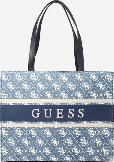GUESS Tasche 'MONIQUE' in navy / blue denim / weiß, Produktansicht