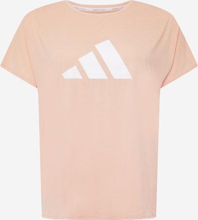 ADIDAS PERFORMANCE T-shirt fonctionnel en pêche / blanc, Vue avec produit