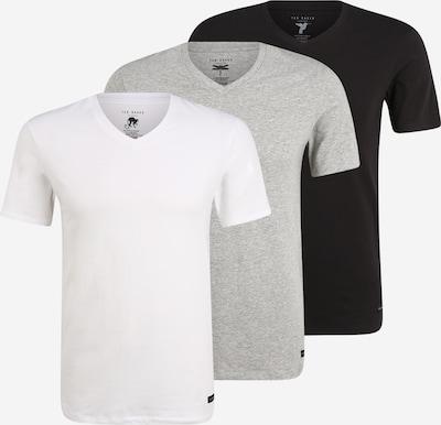 Ted Baker T-Shirt in graumeliert / schwarz / weiß, Produktansicht