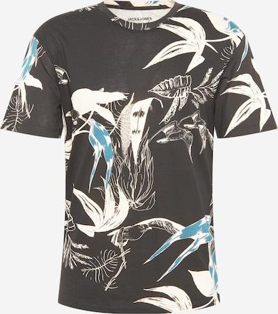 JACK & JONES Tričko 'MONET' - modrá / tmavě šedá / bílá, Produkt