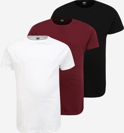 Urban Classics T-Shirt en rouge sang / noir / blanc, Vue avec produit