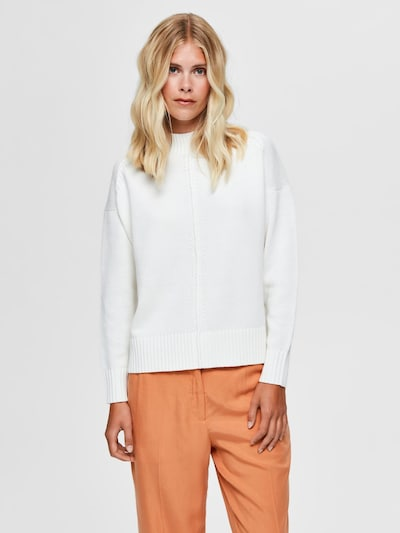 SELECTED FEMME Pullover in weiß, Modelansicht