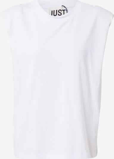 Tricou 'Beijing' JUST FEMALE pe alb, Vizualizare produs