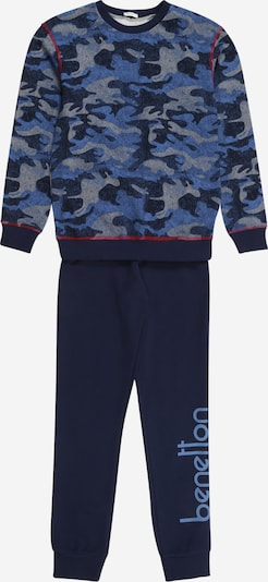 UNITED COLORS OF BENETTON Pajamas in beige / light blue / dark blue / red, Item view