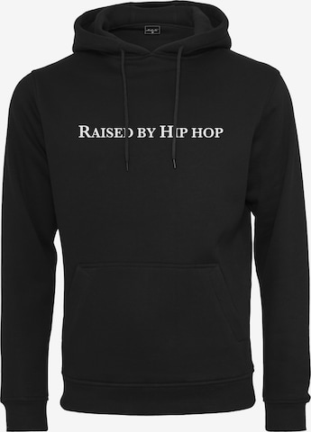 Pull-over ' Raised by Hiphop EMB Hoody ' Mister Tee en noir