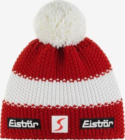 Eisbär Mütze in rot / weiß, Produktansicht