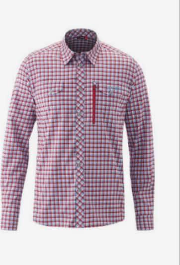 Maier Sports Hemd in grau / rot, Produktansicht