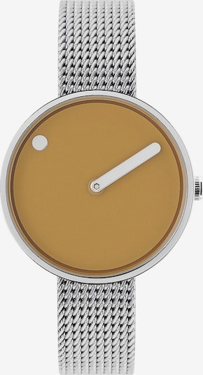 Picto Analog Watch in Dark yellow / Silver, Item view