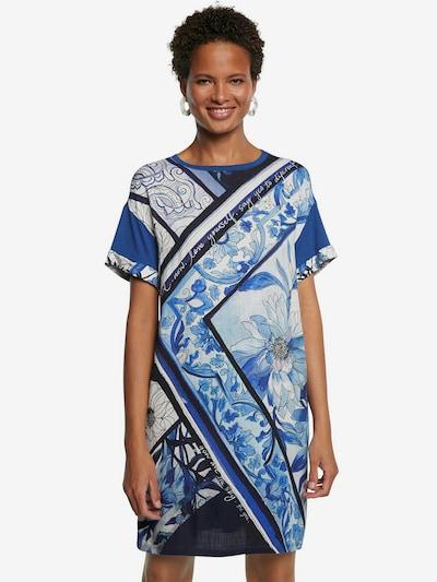 Desigual Kleid 'SOLIMAR' in blau / hellblau / dunkelblau / weiß, Modelansicht