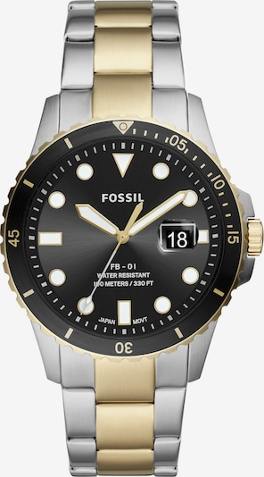 FOSSIL Uhr in gold / schwarz / silber, Produktansicht