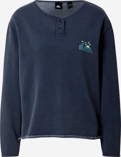 QUIKSILVER Sweatshirt 'BASEBALL' in de kleur Navy / Lichtgeel / Jade groen, Productweergave