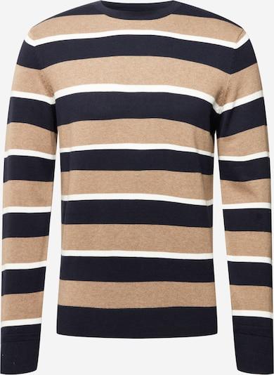 TOM TAILOR Trui in de kleur Beige / Navy / Wit, Productweergave