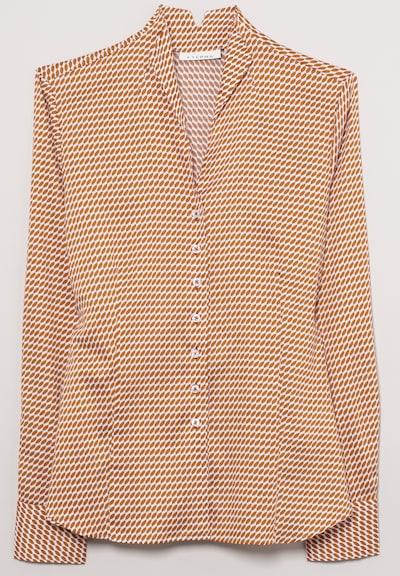 ETERNA Langarm Bluse 'MODERN CLASSIC' in braun, Produktansicht