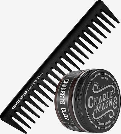 Charlemagne Premium Haarwachs & Strähnenkamm in beige / schwarz, Produktansicht