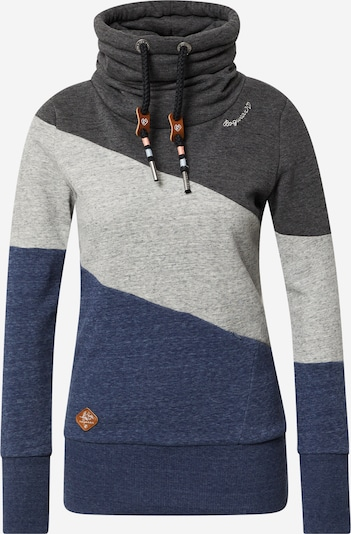 Ragwear Sweatshirt 'RUMIKA' in navy / hellgrau / dunkelgrau, Produktansicht