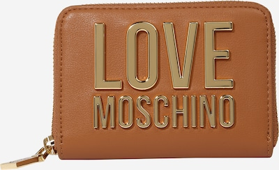 Love Moschino Wallet in cognac / gold, Item view