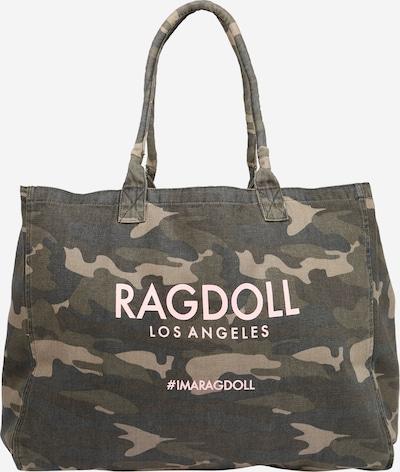 Ragdoll LA Shoppingväska i nattblå / mörkbrun / khaki / puder, Produktvy