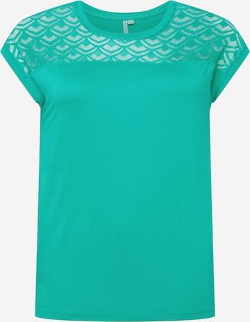 ONLY Carmakoma Skjorte 'FLAKE' i grønn