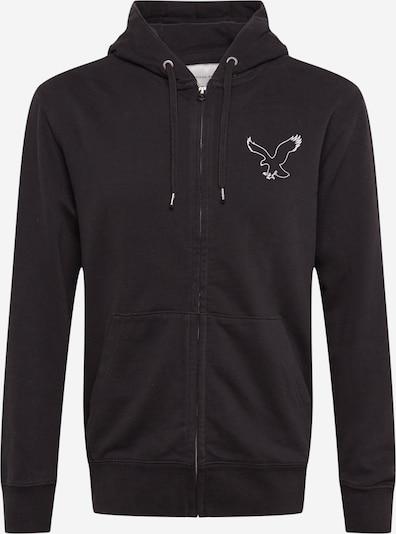 American Eagle Tepláková bunda 'INTERNATIONAL' - čierna / biela, Produkt