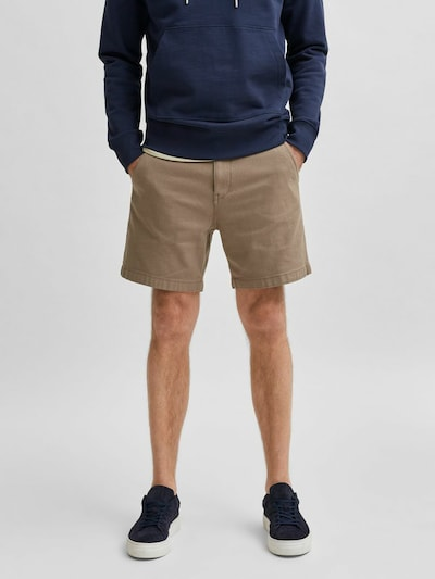 SELECTED HOMME Chino kalhoty 'Storm' - světle hnědá, Model/ka
