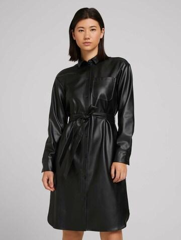 TOM TAILOR Shirt Dress in Black