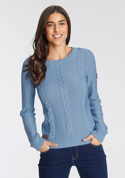KangaROOS Pullover in blau / braun, Modelansicht