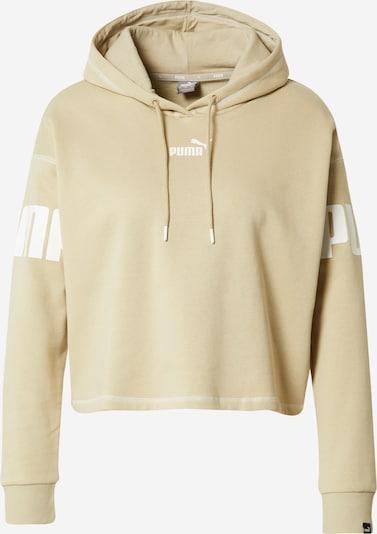 PUMA Athletic Sweatshirt 'POWER' in Khaki / White, Item view