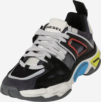 DIESEL Sneaker in grau / rot / schwarz / weiß, Produktansicht
