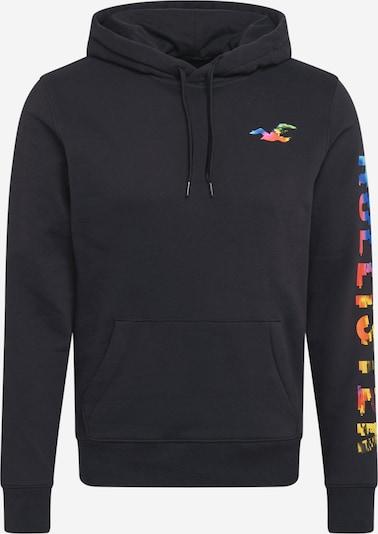 HOLLISTER Sweat-shirt en bleu / jaune / vert / rouge orangé / noir, Vue avec produit