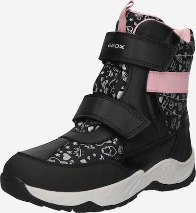 GEOX Kids Snowboots 'Sentiero' in grau / rosa / schwarz, Produktansicht