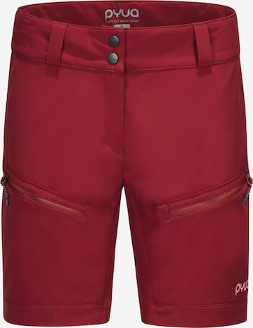 PYUA Workout Pants in Red