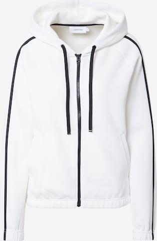 Veste de survêtement Calvin Klein en blanc