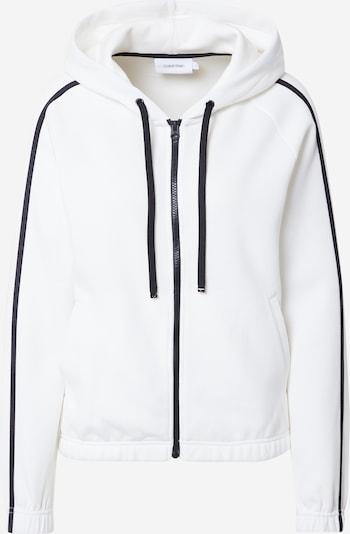 Calvin Klein Sweatjacke en schwarz / weiß, Vue avec produit