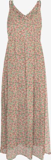 VERO MODA Robe d'été 'Kay' en vert clair / corail / rose / rosé / noir, Vue avec produit
