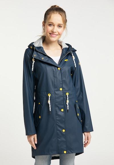 Schmuddelwedda Regenmantel in dunkelblau, Modelansicht