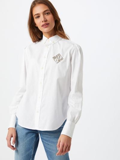 Bluză 'BRIA' POLO RALPH LAUREN pe alb: Privire frontală