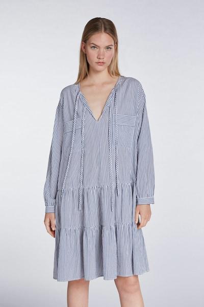SET Kleid mit lässigen Streifen in blau, Modelansicht