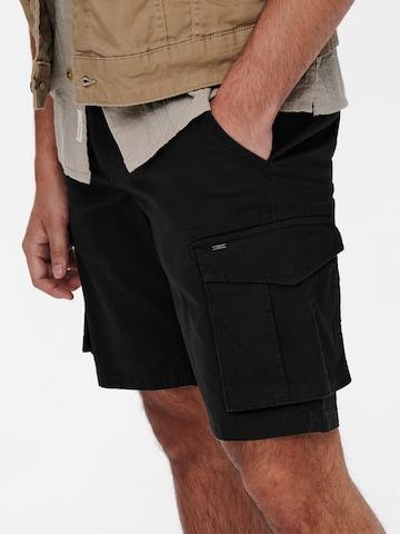 Pantalon cargo 'Mike' Only & Sons en noir