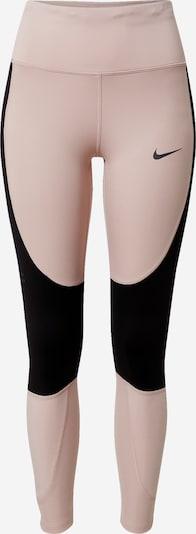 NIKE Pantalon de sport en nude / noir, Vue avec produit