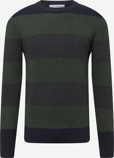 SELECTED HOMME Trui 'Chase' in de kleur Donkergrijs / Donkergroen, Productweergave