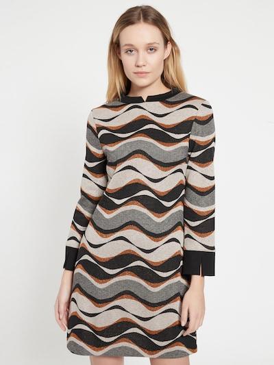 Ana Alcazar Kleid 'Befte' in braun / grau / schwarz / weiß, Modelansicht