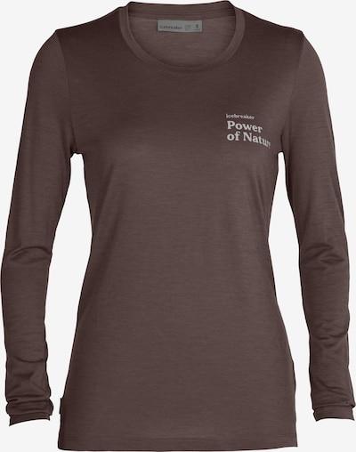ICEBREAKER Shirt 'Power of Nature' in de kleur Blauw / Bruin, Productweergave