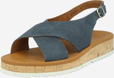 Paul Green Sandale in taubenblau, Produktansicht