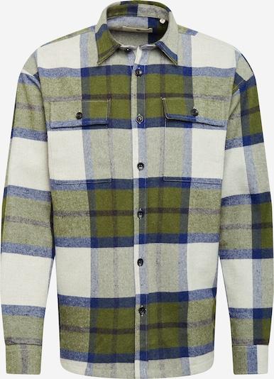 anerkjendt Overhemd 'KARSTEN' in de kleur Blauw denim / Kaki / Braam / Wit, Productweergave