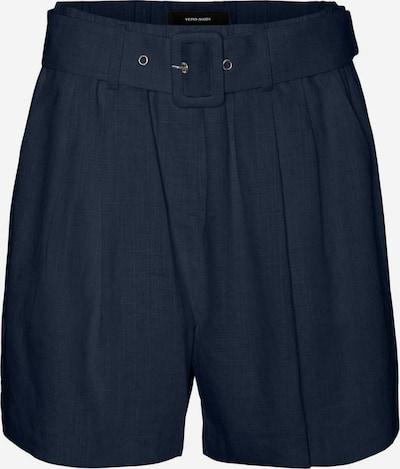 VERO MODA Bandplooibroek in de kleur Marine / Donkerblauw, Productweergave
