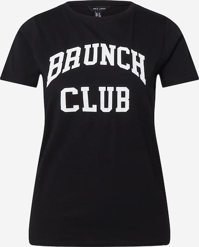 Tricou NEW LOOK pe negru / alb, Vizualizare produs